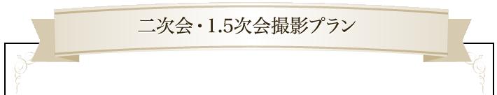 二次会・1.5次会撮影プラン