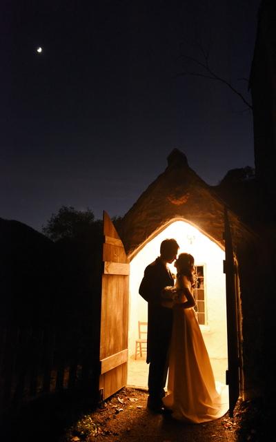 京都にて結婚式前撮り写真撮影